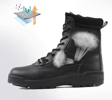Men Boots Special Force Tactical Military Style Premium Quality High Top Boots