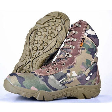 Men Boots Camouflage Military Style Cool Fashion High Top Boots