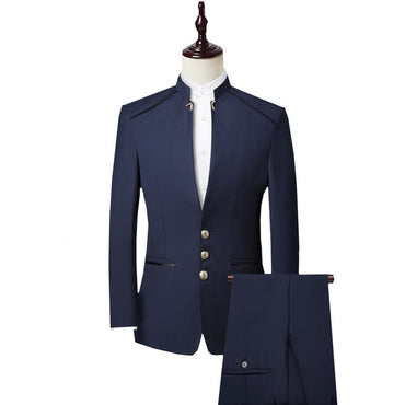 Luxury Fashion Men Single Breasted Three Pieces Suit Set