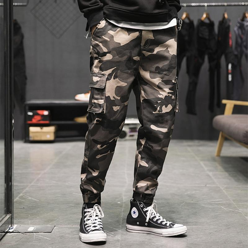 Cool Style Men Cargo Pants Camouflage Tactical Casual Sweatpants