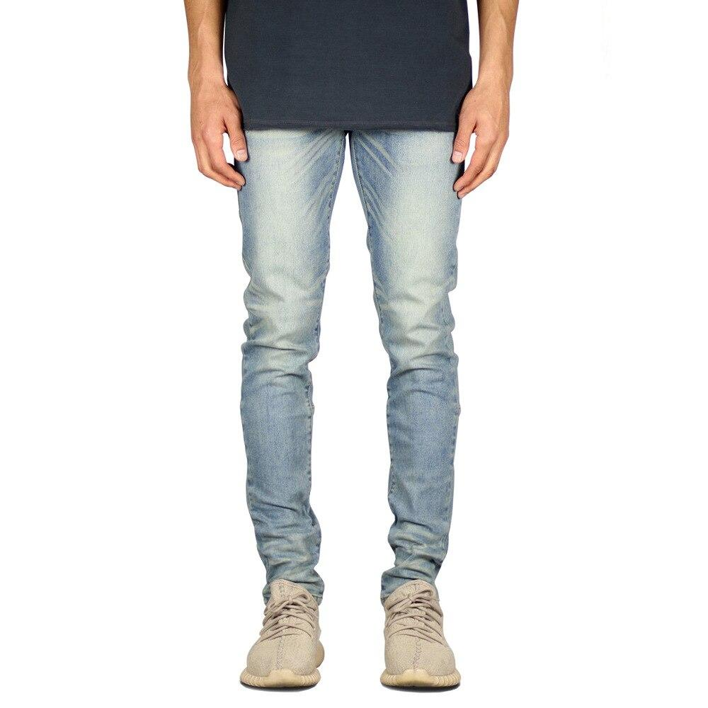Fashion Men Skinny Jean Slim Elastic Washed Ripped Jean Hip Hop Style