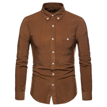 Best Seller Men Long Sleeve Corduroy Shirt