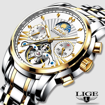 Premium Luxury Men Automatic Mechanical Business Watches