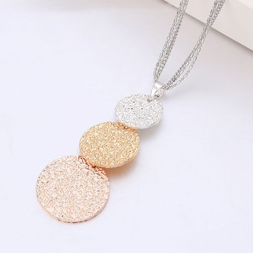 Women Vintage Mix Color Shining Chain Necklace