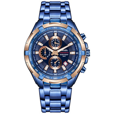 Men Waterproof Chronograph  Luxury Brand Big Dial Quartz Watch