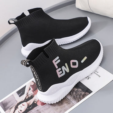 Women Stretch Socks Shoes Fashion Design Thick Sole Tide Sneakers