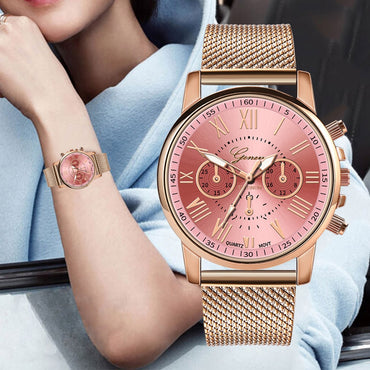 Luxury Fashion Women Premium Stainless Steel Wristwatch