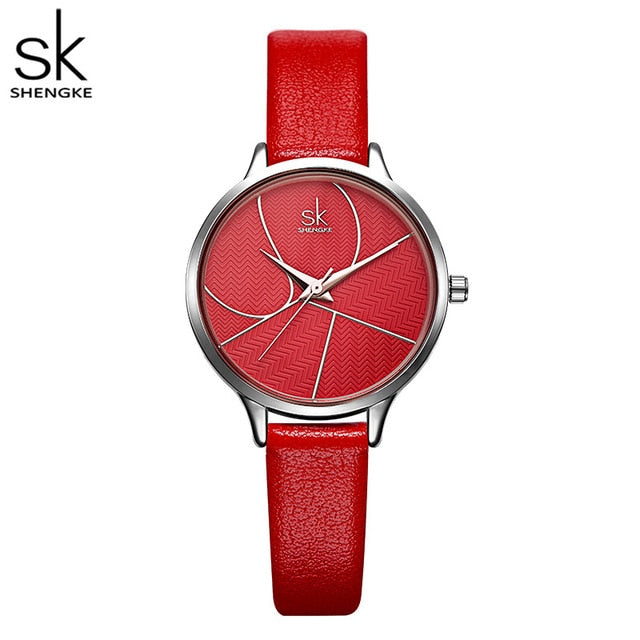 Simple Fashion Women Casual Leather Quartz Watch