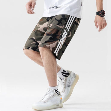 Men Fashion Camouflage Loose Hip Hop Jogging Shorts
