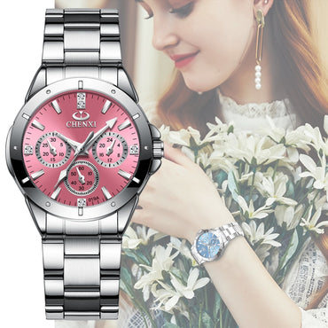 Women Fashion Luxury Watches Rhinestone Dial Waterproof Wristwatches