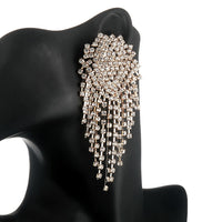 Fashion Big Rhinestone Dangle Earrings For Women