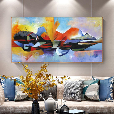 Buddha Abstract Oil Painting Wall Art Home Decor