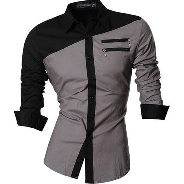 Hot Selling Men Casual Slim Fit Long Sleeve Shirt