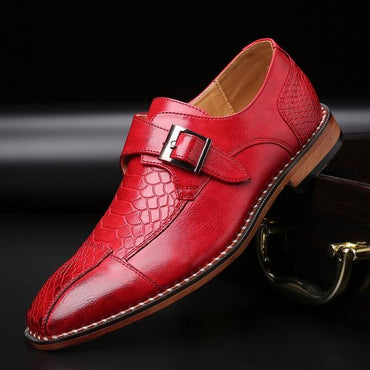 Men Classic Crocodile Pattern Leather Formal Shoes
