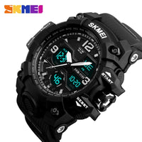 New Fashion Men Sports Watches Quartz Analog LED Digital Waterproof