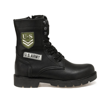 Men Military Style High Top Boots