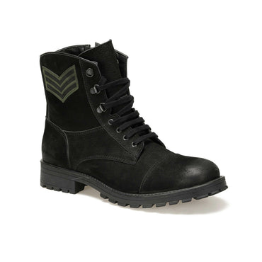 Men Leather Postal Ankle Boots