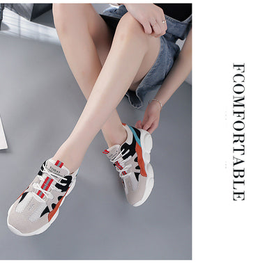 Elegant Design Women Leather Sneakers Colorful Casual Shoes
