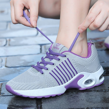 Women Sneakers Breathable Mesh Air Cushion Running Shoes