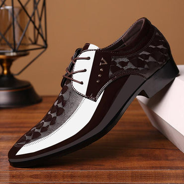 Fashion Design Men Lace Up Breathable Formal Dress Shoes