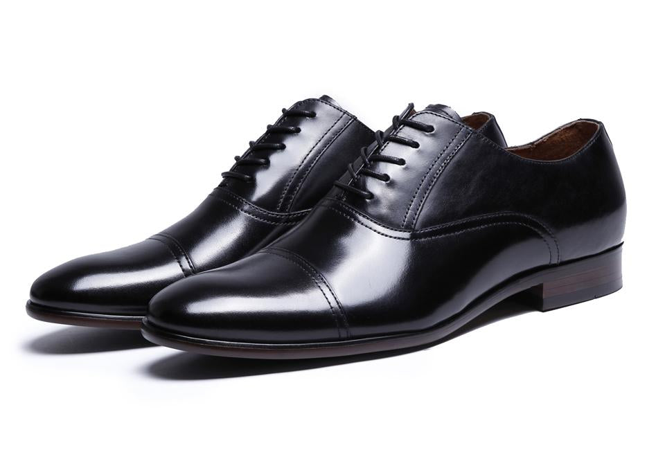 Men Full Grain Leather Retro Patent Luxury Oxford Shoes