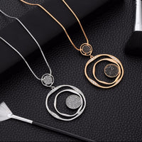 Luxury Elegant Design Crystal Women Long Necklace