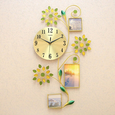 Silent Stick Minimalist Creative Photo Frame Decorative Wall Clock