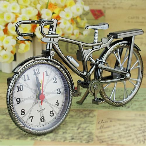 Vintage Arabic Bicycle Shape Table Alarm Clock Home Decor