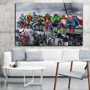 Superheros Marvel Silk Light Canvas Painting Wall Picture Home Decor