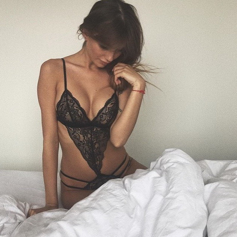 Sexy Lace Deep V Erotic Lingerie Set