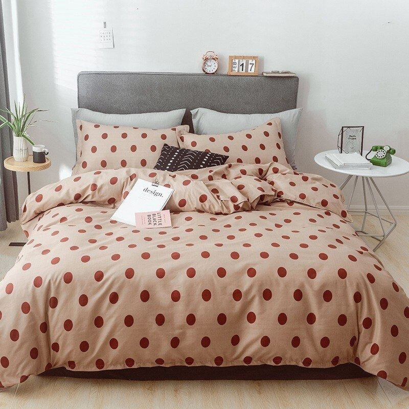 Lattice Linen Duvet Cover Pillowcase Bed Sheet