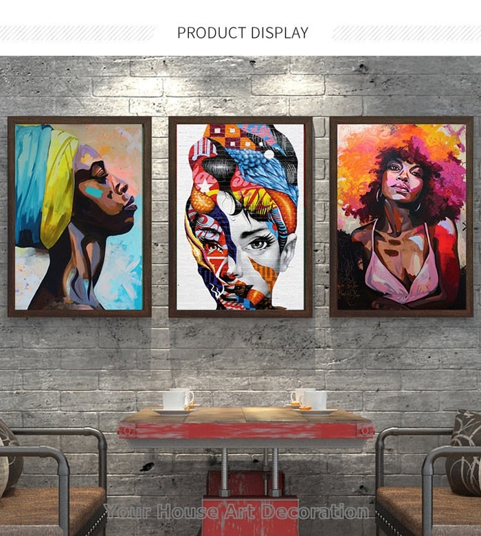 Sexy Girl Nordic Abstract Canvas Painting Wall Art Home Decor Agodeal