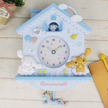 Cute Cartoon Melody Swing Kids Room Wall Clock