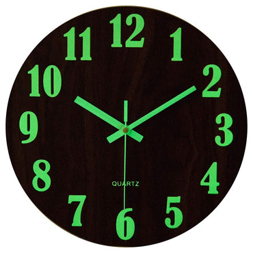 Wooden Vintage Tuscan Style Lumious Wall Clock
