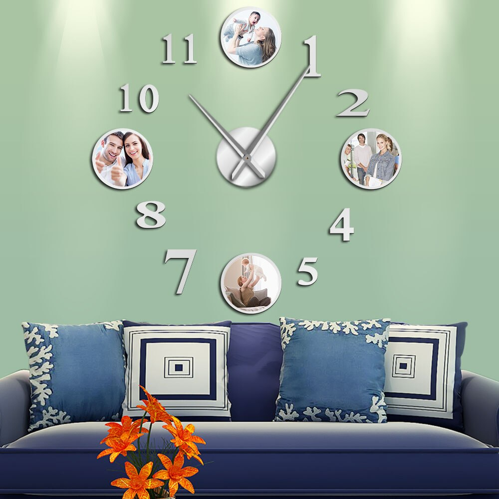 Photo Picture Frame DIY Large Decorative Wall Clock