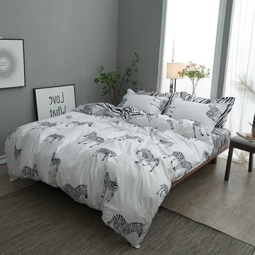 Comfortable Geometric Stripe Nordic Style Bedding Set