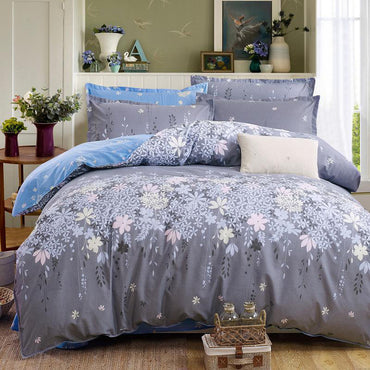 Pastoral Flowers Cotton Linen Bedding Set