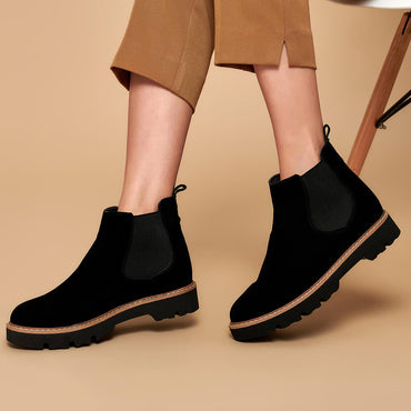 Women Black Ankle Martin Boots