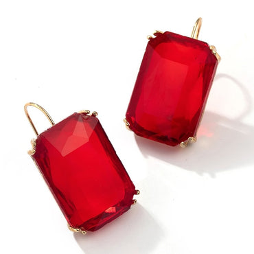 Women Bohemia Geometric Square Acrylic Drop Dangle Earrings