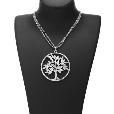 Women Tree of Life Crystal Fashion Necklace