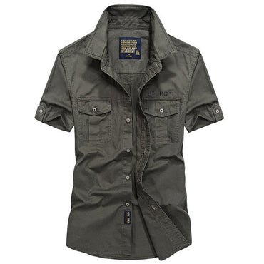 Men Cool Fashion High Quality Cotton Military Shirt