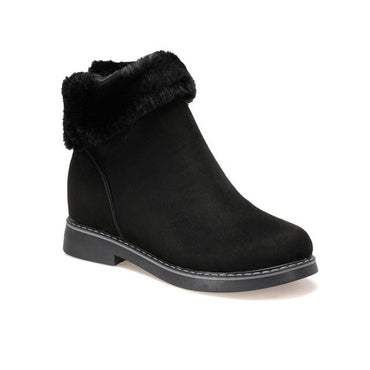 Women Luxury Fashion Furry Ankle Boots