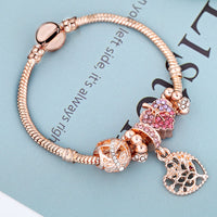Women Elegant Leaf Love Tree Bracelet