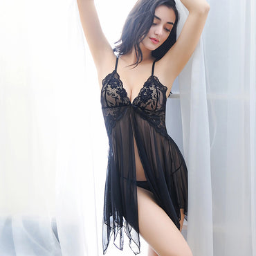 Women Sexy Lingerie V Neck Sleeveless Sleepwear