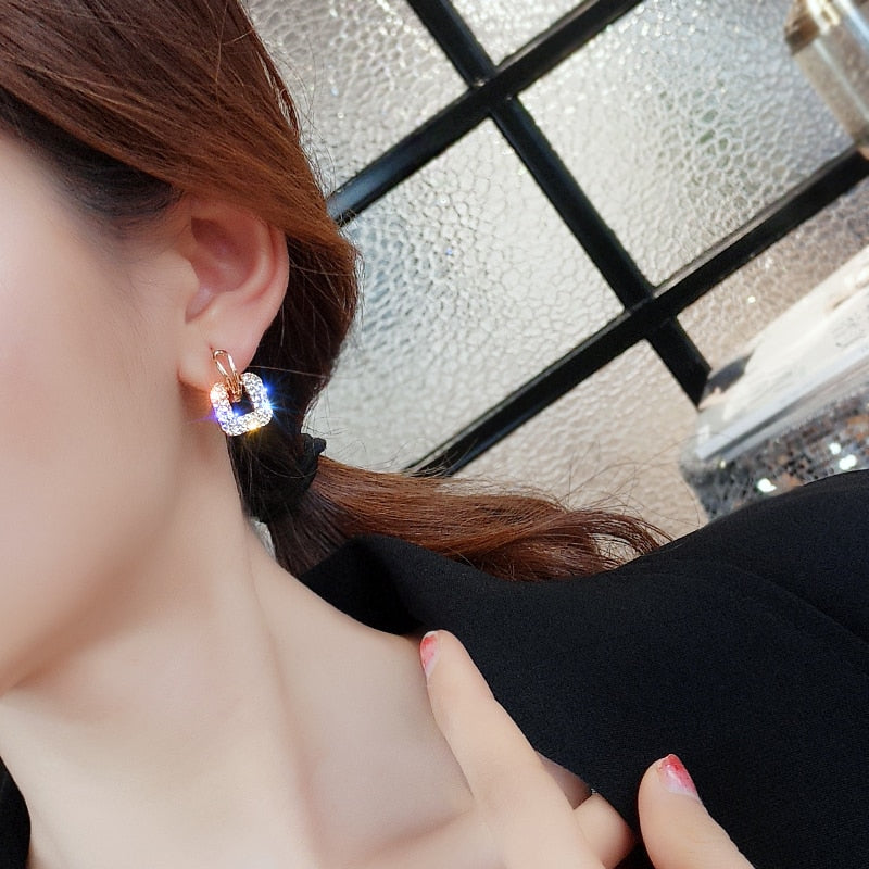 Fashion Zinc Alloy Classic Geometric Women Dangle Earrings