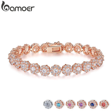 Women Luxury Shining AAA Cubic Zircon Crystal Bracelet