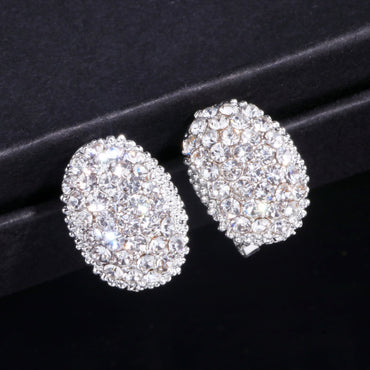 Women Luxury AAA Cubic Zirconia Stone Stud Earrings