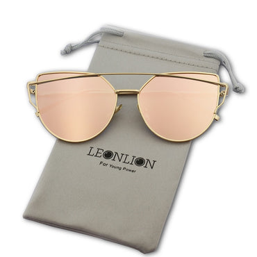 Italian Designer Women Fashion Mirror Retro Cat Eye Sunglasses
