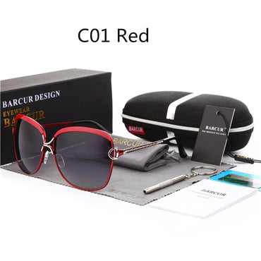 Luxury Style Women Gradient Lens UV400 Sunglasses