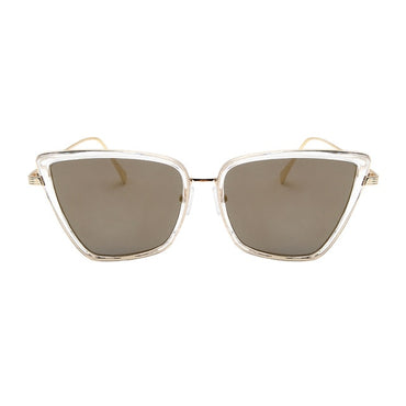 Women Vintage Fashion Mirror Lens UV400 Cat Eyes Sunglasses
